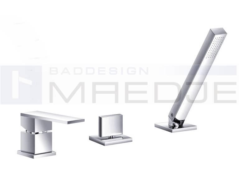 design 3 loch wannenrand armatur quadro 08 handbrause ebay. Black Bedroom Furniture Sets. Home Design Ideas