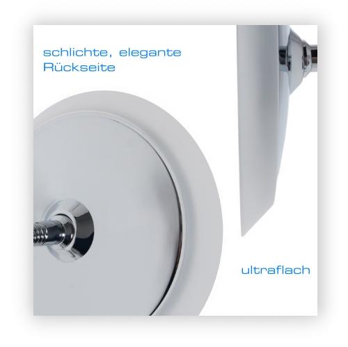 beleuchteter led kosmetikspiegel flex 7 fach vergr erung 22cm flexibler arm acryl und. Black Bedroom Furniture Sets. Home Design Ideas