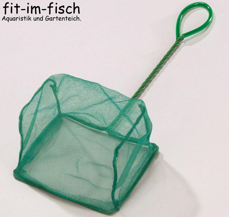 Aquarium kescher fischfangnetz gr n grob 20cm ebay for Robuste zierfische