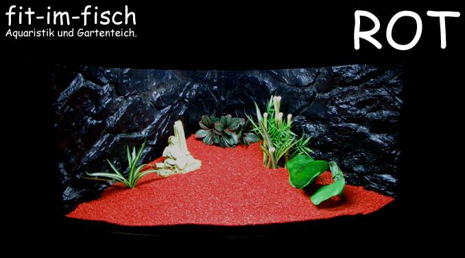 5kg fif ground rot aquarium bodengrund kies 1 2 mm ebay. Black Bedroom Furniture Sets. Home Design Ideas