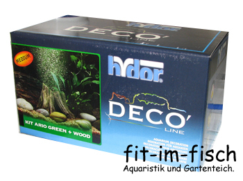 Hydor Deco-Line Wood + Ario Kit green Medium NEU