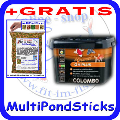 Colombo GH Plus 1000ml Gesamthärte Plus + GRATIS MultiPondSticks
