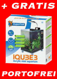NEU iQube3 Electric Blau Design Aquariumset + LED