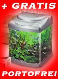 NEU Panorama 40 Design Aquariumset Schwarz