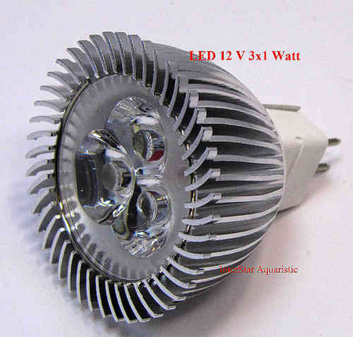 LED 3 W Ersatzlampe 12V 3x1W Power LED