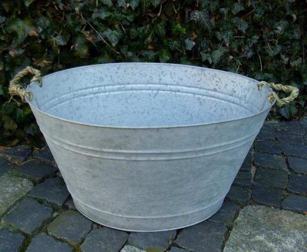 zinkwanne 30 liter antik nostalgie landhausstil pflanzkÜbel wanne, Garten Ideen
