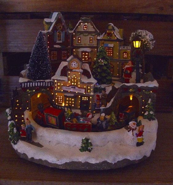 Weihnachtsdeko weihnachtszug beleuchtet mit farbwechsel - Weihnachtsdeko fenster beleuchtet ...