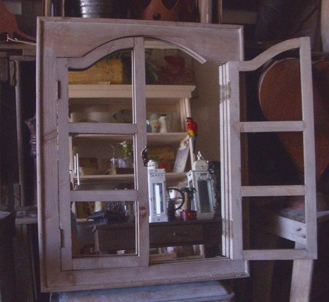 spiegel fenster antik nostalgie landhausstil wohndeko. Black Bedroom Furniture Sets. Home Design Ideas