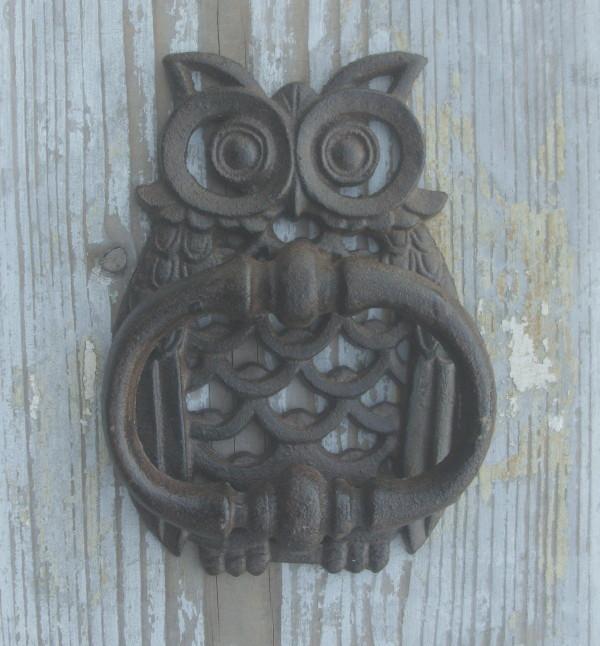 Batacchio gufo antico nostalgico stile country decorazione - Batacchio porta ...