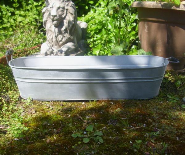 Pflanzschale zuber gartendeko garten zinkwanne metall for Gartenaccessoires landhausstil