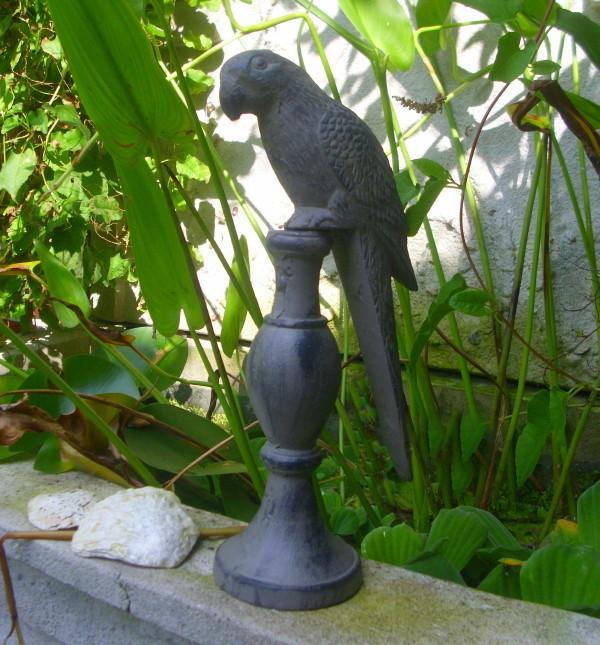 Gebrauchte Gartenmobel In Nurnberg :  Figure on Stand Parrot Cast Iron 31cm H Antique Style Garden  eBay
