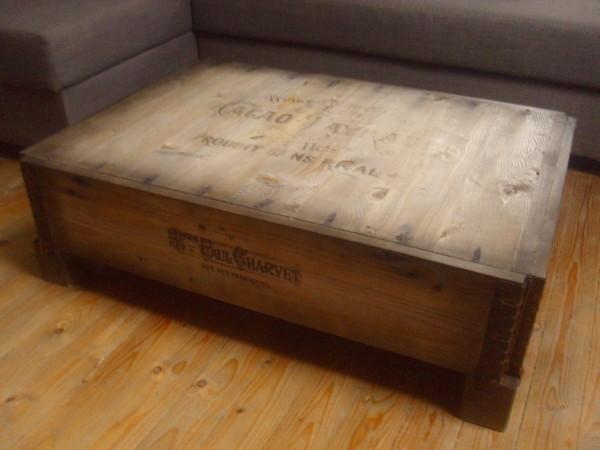 vintage paletten couchtisch cacao payraud loft stil industrial holz tisch neu ebay. Black Bedroom Furniture Sets. Home Design Ideas