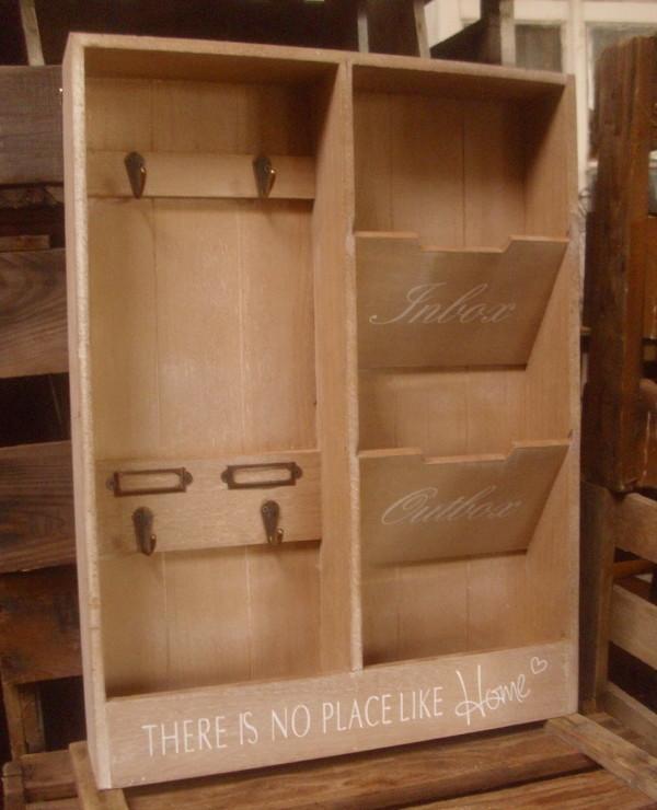 briefhalter schl sselkasten organizer zeitschriftenhalter landhausstil holz neu ebay. Black Bedroom Furniture Sets. Home Design Ideas