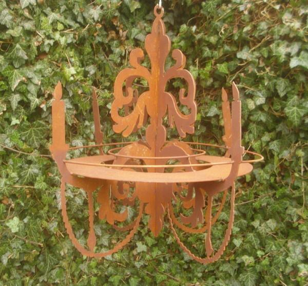 Leuchter gartendeko kronleuchter f r windlichter for Gartenaccessoires rost