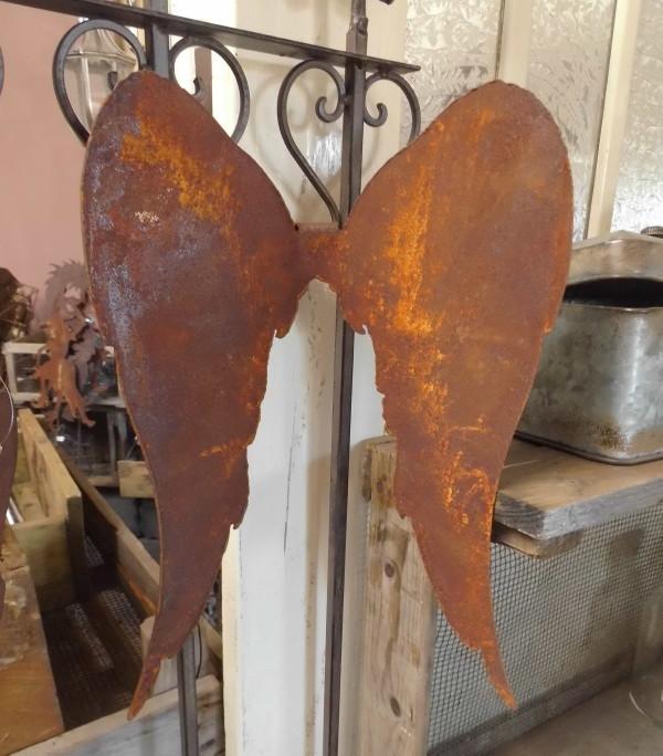 Grosse engelfl gel 28cm metall rost winterdeko engel for Gartenaccessoires aus rost