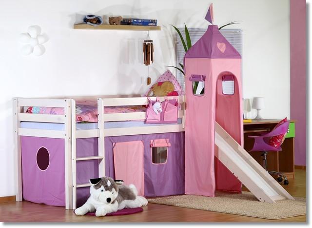 hochbett mit rutsche turm buche massiv teilbar heidi ebay. Black Bedroom Furniture Sets. Home Design Ideas