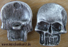 Skull -Button - silver plated