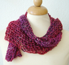 """Fishermen Lace-scarf"" - red/violet"