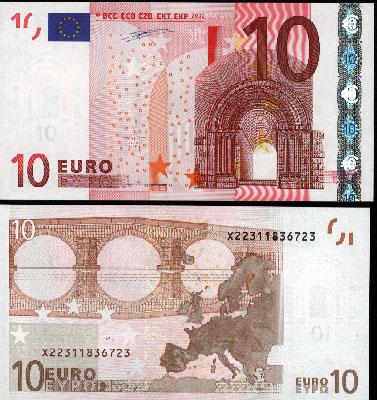 10 euro 2002 serie x deutschland banknotenversand. Black Bedroom Furniture Sets. Home Design Ideas