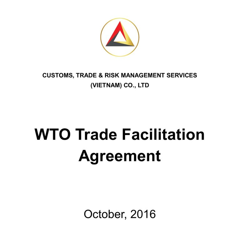 Ctrms Wto Trade Facilitation Agreement Grnkorn Partner