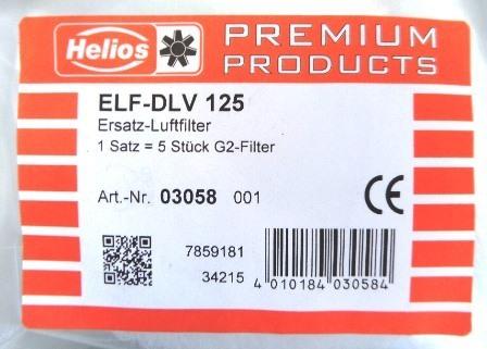 helios ersatzfilter elf dlv nr 3058 f r l ftungsventil. Black Bedroom Furniture Sets. Home Design Ideas