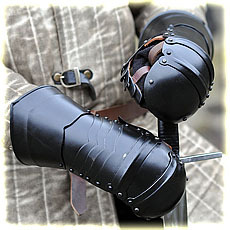 steel mittens type 1, blackened