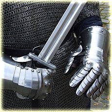 steel gloves type 1, polished