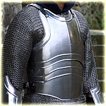 "cuirass with back ""Warrior"" polished"