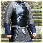 "cuirass with back ""Warrior"" with short tasset blackened"