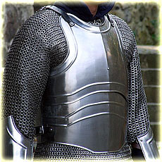 "cuirass with back ""Warrior"" L-XL, polished"