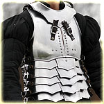 "cuirass with back and gorget ""avenger"" polished"