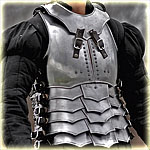 "cuirass with back and gorget ""avenger"" blackened"