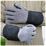 mail gloves 7mm ID, ROUND RINGS, zinc plated