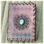 handmade leather journal type 10  (14x10cm) brown