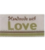 "Woven Iron-on Lovelabel ""Handmade with Love"" (green)"