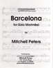 Peters, Mitchell: Barcelona for Solo Marimba