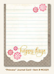 My Mind´s Eye: Miss Caroline - Dolled Up - Princess Journal Card