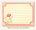 My Mind´s Eye: Miss Caroline - Howdy Doody - Baby Journal Card