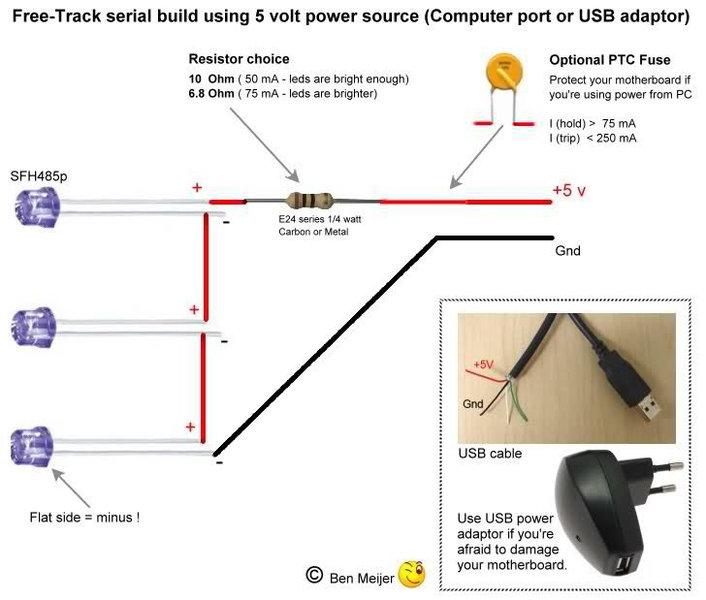 Набор для сборки FreeTrack USB