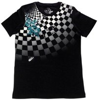 Playera Slim Fit RETRO schwarz