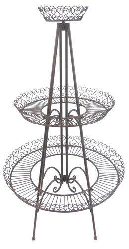 rund 130 cm deko garten eisen gartenmöbel antik braun mc 4331, Gartenarbeit ideen