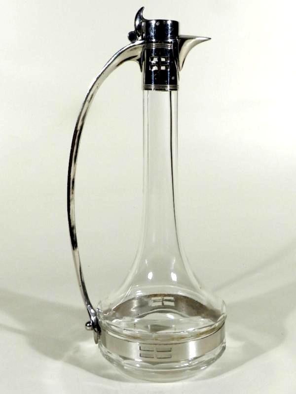 wmf glas metall jugendstil karaffe im argentor stil wien. Black Bedroom Furniture Sets. Home Design Ideas