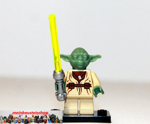 lego star wars minifigur figuren sw051 yoda m laserschwert 4502 7103 7260 ebay. Black Bedroom Furniture Sets. Home Design Ideas