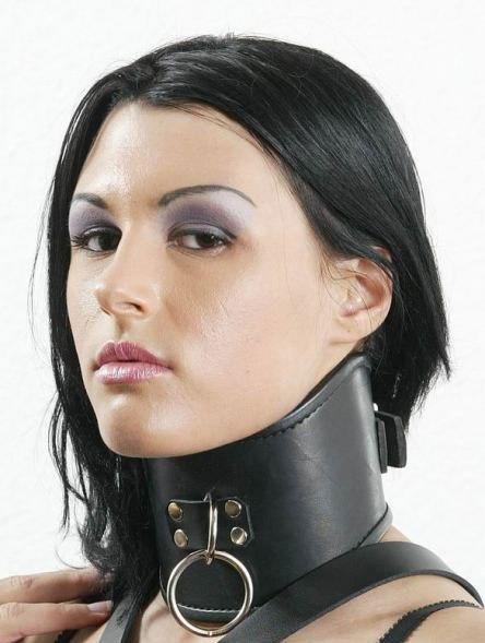 Grosses Halskorsett aus Leder