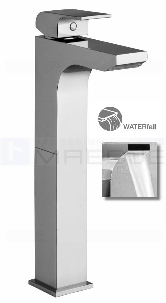 Design waschtisch armatur quadro schwall wasserfall ebay - Armatur wasserfall ...