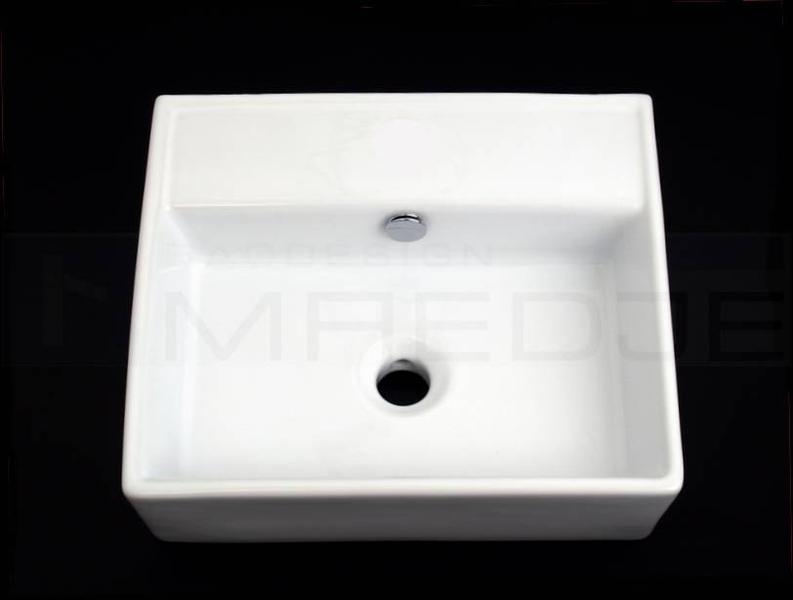 design waschbecken waschtisch quadro 43 ohne hahnloch ebay. Black Bedroom Furniture Sets. Home Design Ideas