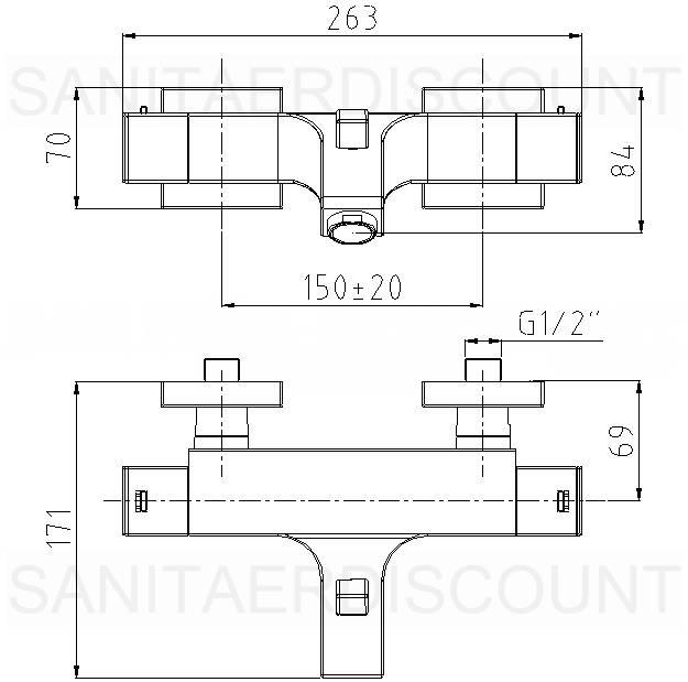 Neu designer wannen thermostat armatur quadro dusche ebay for Thermostatarmatur dusche