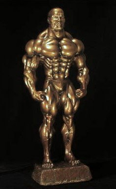NA 137 Muscle Man 37cm Bronze color