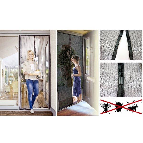 magic mesh insektenschutz gaze fliegengitter moskito t r magnete vorhang netz ebay. Black Bedroom Furniture Sets. Home Design Ideas