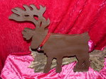 Hirsch Reindeer Wood Brown Winter Cottage